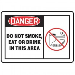 Accuform Signs - LSMK002VSP - Dngr Sign Do Not Smoke 3 1/2x5, Pk
