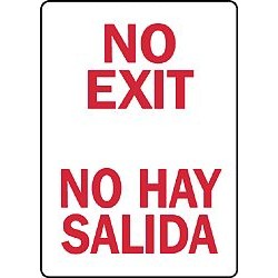 Accuform Signs - LSPS805VSP - Notc Sign No Exit Bilng 3 1/2x, Pk