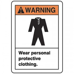 Accuform Signs - LPPE304VSP - Warn Sign Wear Protective Clot, Pk