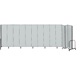 Screenflex - CFSL4013 GREY - 24 ft. 1 in. x 4 ft., 13-Panel Portable Room Divider, Gray