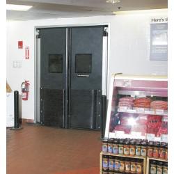 Aleco - 434015 - ABS Swinging Door, Gray&#x3b; Number of Doors: 1, 4 ft.W x 7 ft.H