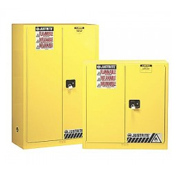 Justrite - 893005 - 30 gal. Flammable Cabinet, 44 x 43 x 18, Manual Door Type