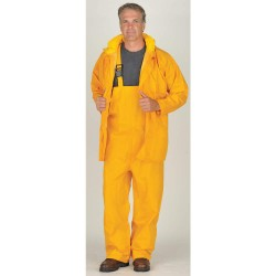 Viking - 2900Y-XL - Men's Yellow 150D Rip-Stop Polyester 3-Piece Rainsuit with Hood, Size: XL, Fits Chest Size: 48 to 5