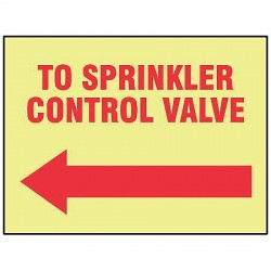 Accuform Signs - MLFX527GF - Fire Sprinkler Control Valve Sign, R/YEL