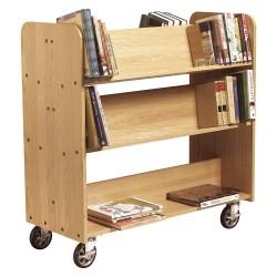 Diversified Woodcrafts - BT311 - Diversified Woodcrafts Book Truck - 6 Shelf - 4 x 5 Caster - Wood - 42 x 18 x 42.5 - Oak