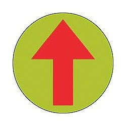 Accuform Signs - MFS760 - Floor Sign Arrow (graphic) 17 In Adhesive, Ea
