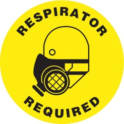 Accuform Signs - MFS0817 - Floor Sign Respirator Protection Required 17 In Adhesive, Ea