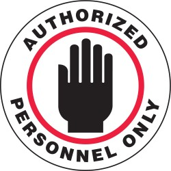 Accuform Signs - MFS727 - Floor Sign Authorized Personel Only 17 In Adhesive, Ea