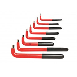 Wiha Quality Tools - 13690 - Short Plain SAE Hex Key Set, Number of Pieces: 8
