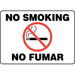Accuform Signs - SBMSMK948MVP - No Smoking Sign, 10 x 14In, R and BK/WHT