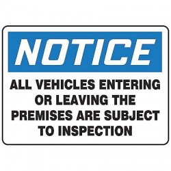 Accuform Signs - MADC825VS - Notice Security Sign, 10 x 14In, ENG, Text