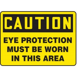 Accuform Signs - MPPA606VA - Caution Sign, 10 x 14In, BK/YEL, AL, ENG