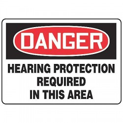 Accuform Signs - MPPE218VS - Danger Sign, 10 x 14In, R and BK/WHT, ENG