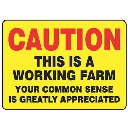 Accuform Signs - MEQM697VA - Caution Sign, 10 x 14In, R and BK/YEL, AL