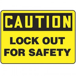 Accuform Signs - MLKT611VS - Caution Sign, 7 x 10In, BK/YEL, ENG, Text