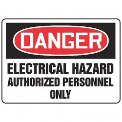 Accuform Signs - MELC022VS - Danger Sign, 10 x 14In, R and BK/WHT, ENG