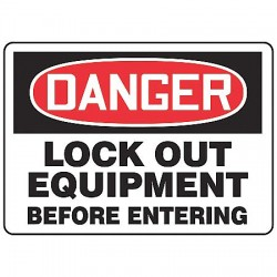Accuform Signs - MLKT106VP - Lockout Tagout, Danger, Plastic, 7 x 10, With Mounting Holes, Not Retroreflective