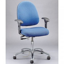 Bevco Precision - 9351L SLATE FABRIC - Electrostatic Dissipative Seating Desk Height Large Back Light Blue 22-29.5 In Fabric Bevco Ansi/bifma, Ea