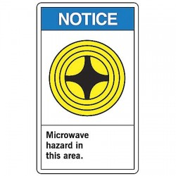 Accuform Signs - MRAD802VP - Notice Radiation Sign, 14 x 10In, PLSTC