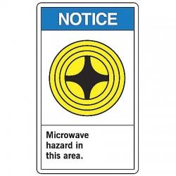Accuform Signs - RAY815VS - Notc Mcrwv Haz 14x10 Self, Ea
