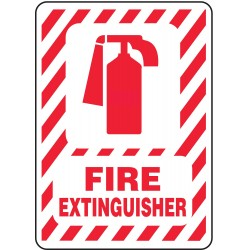 Accuform Signs - MFXG516VS - Accuform MFXG516VS Safety Sign, Fire Extinguisher (symbol), 14 X 10, Adhesive Vinyl