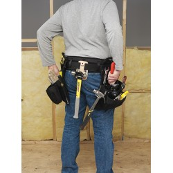CLC (Custom Leather Craft) - 5608 - CLC Piece Carpenter's Combo Tool Belt - 46 Length - Ballistic Poly Fabric
