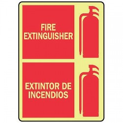 Accuform Signs - MLFX572GP - Fire Sfty Sign Extg Bilng, Ea