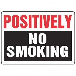 Accuform Signs - MSMK909VA - Info Sign Postively No Smoking 10x14 Aluminum Ansi Z535.2 - 1998 Accuform Mfg Inc, Ea