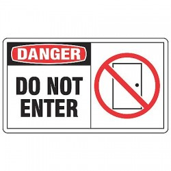 Accuform Signs - MADM062VA - Danger Sign, 7 x 10In, R and BK/WHT, AL, ENG