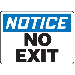 Accuform Signs - MADM836VA - Exit and Entrance, Notice, Aluminum, 10 x 14, With Mounting Holes, Not Retroreflective