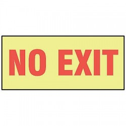 Accuform Signs - MLAD505GP - No Exit Sign, 3-1/2 x 10In, R/YEL, PLSTC