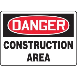 Accuform Signs - MCRT127VS - Danger Sign, 7 x 10In, R and BK/WHT, ENG