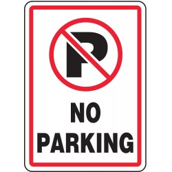 "Accuform Signs - MVHR402VP - Text and Symbol No Parking, Plastic Parking Sign, Height 14"", Width 10"""