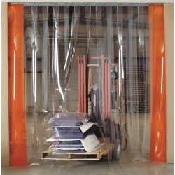 Aleco - 455041 - Strip Door 12 In Scratch Guard Clear-flex Vinyl 10 Ft Hx8 Ft W Clear .12 Gauge Astm 105 Pound Aleco, Ea