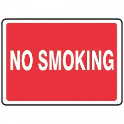 Accuform Signs - MSMK400VP - Emergency Sign No Smoking 7x10 Plastic Accuform Mfg Inc, Ea