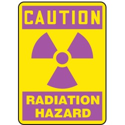 Accuform Signs - MRAD700VA - Caution Sign Radiation Hazard 14x10 Aluminum 29 Cfr 1910.1096 Accuform Mfg Inc, Ea