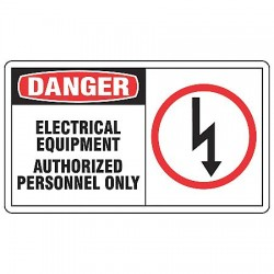 Accuform Signs - MELC055VS - Danger Sign Electrical Equipment 7x10 Self Adhesive 29 Cfr 1910.145 Accuform Mfg Inc, Ea