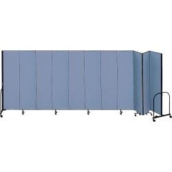 Screenflex - CFSL4011 BLUE - 20 ft. 5 in. x 4 ft., 11-Panel Portable Room Divider, Blue