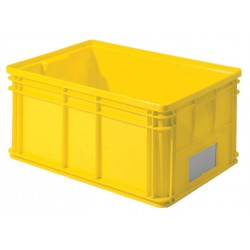 SSI Schaefer - 1461.261912YL1 - Straight Wall Container, Yellow, 19H x 26L x 12W, 1EA