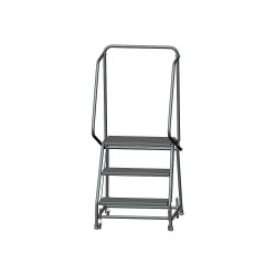 Ballymore / Garlin - H326PSU - 3-Step Rolling Ladder, Perforated Step Tread, 58-1/2 Overall Height, 450 lb. Load Capacity
