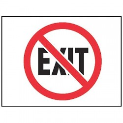 Accuform Signs - MADM400VP - Fire Exit Sign, 7 x 10In, R and BK/WHT, ENG