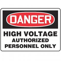 Accuform Signs - MELC138VP - Electrical Hazard, Danger, Plastic, 10 x 14, With Mounting Holes, Not Retroreflective