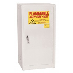 Eagle Mfg - 1905 WHITE - Flammable Cabinet Benchtop Self Closing 16 Gal White Steel 35x20x18 1 Shelf 150 Pound Eagle Mfg Co. Osha Nfpa Code 30, Ea