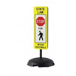 Tapco - 373-05103B - Pedestrian Traffic, No Header, Plastic, 36 x 12, With Mounting Holes, Diamond