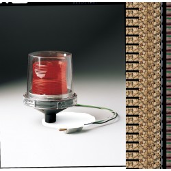 Federal Signal - 225XST-120R - Federal Signal 225XST-120R Beacon, Type: Strobe/Hazardous, 120VAC, 0.25A, Pipe Mount 1/2, Red