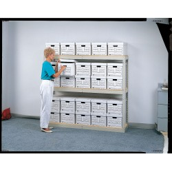 lyon workspace pp73004p record storage rack 40 box 84x69x16 14 gauge steel 143 pound lyon. Black Bedroom Furniture Sets. Home Design Ideas