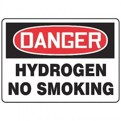 Accuform Signs - MCHL071VS - Danger No Smoking Sign, 10 x 14In, ENG