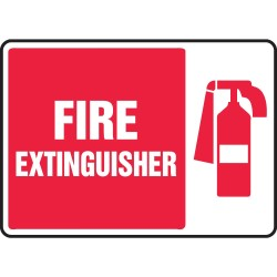 "Accuform Signs - MFXG423VA - Safety Sign, Fire Extinguisher (symbol), 10"" x 7"", Aluminum"