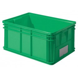 SSI Schaefer - 1461.261912GN1 - Straight Wall Container, Green, 12H x 26L x 19W, 1EA
