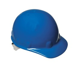 Fibre-Metal - E2SW71A000 - Front Brim Hard Hat, 8 pt. Ratchet Suspension, Blue, Hat Size: 6 1/2 to 8